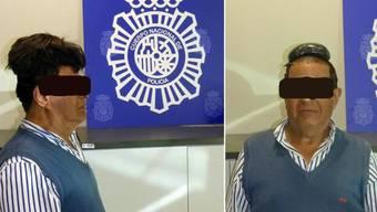 Nicht ganz unauffällig: Unter seinem Toupet wollte ein kolumbianischer Drogenkurier ein Pfund Kokain nach Spanien schmuggeln.