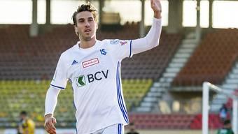 Lausannes Goalgetter Simone Rapp erzielte gegen Schaffhausen das 1:0