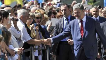 Der ukrainische Präsident Petro Poroschenko in Kiew