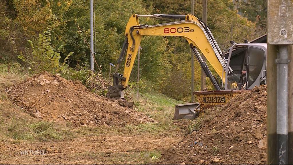 Wallbach bei Schinznach-Dorf: Bauunternehmer legt ohne Baubewilligung los