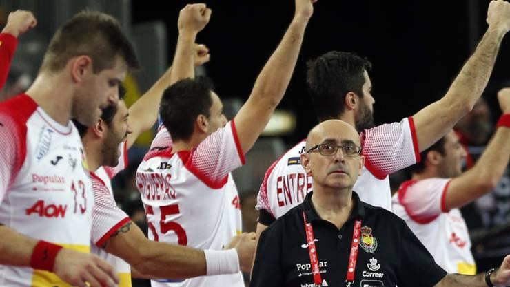 Die Spanier freuen sich über den Einzug in den EM-Final