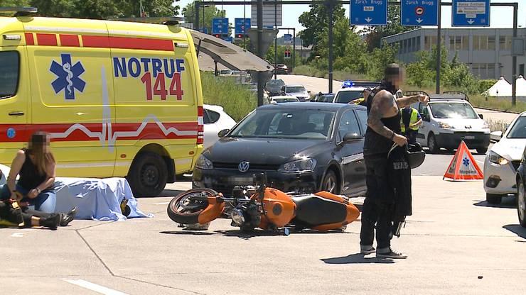 Bilder von der Unfallstelle im Aarauer Telli-Quartier.