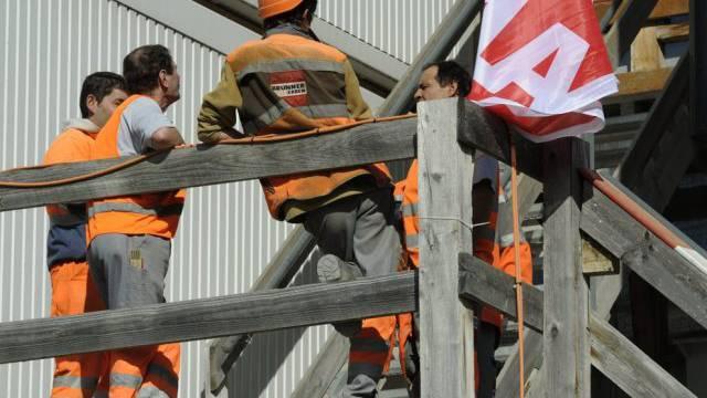 Pensionierung mit 60 möglich: Arbeiter auf dem Bau (Symbolbild)