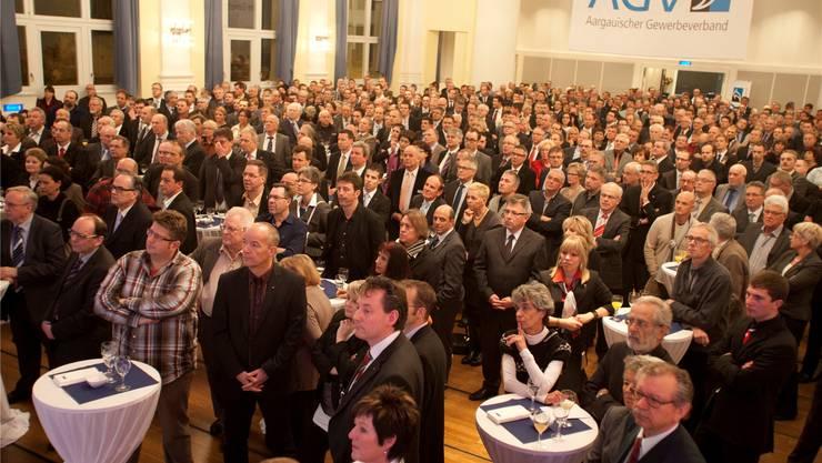 «Volles Haus» für den Aargauischen Gewerbeverband in Aarau