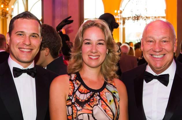 Ezio Alba, Muriel Brennwald und Swiss Indoors Chef Roger Brennwald (v.l.) waren begeistert.