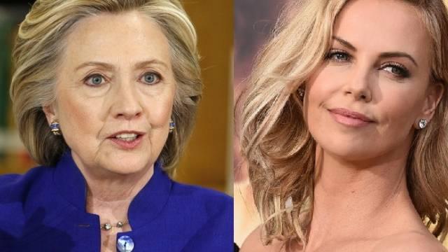 Hillary Clinton und Charlize Theron (Archiv)