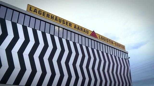 Protest vor Lagerhäuser Aarau