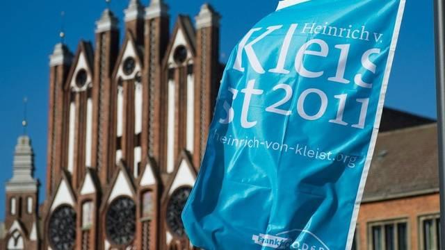Fahne zur Ehre von Heinrich von Kleist in Frankfurt