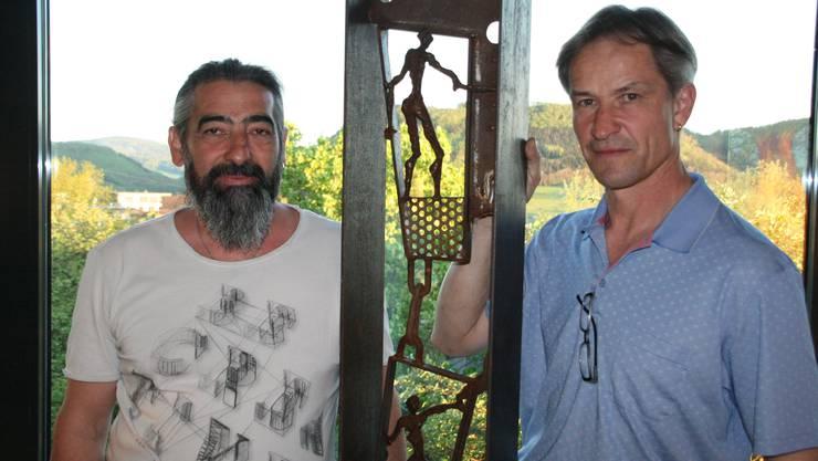Claudio Cassano (l.) und Daniel Schwarz arbeiten seit 25 Jahren zusammen.