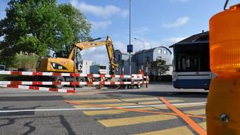 Bauarbeiten Geroldswil Zentrum