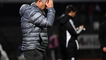 Verzweifelt im Tessin: GC-Trainer Pierluigi Tami gerät ob des Auftritts seiner Mannschaft ins Grübeln