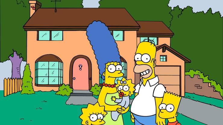 Die Simpson-Familie rund um Sohn Bart (rechts, Archiv)