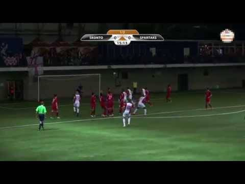 Edgars Gauracs Tor für Spartaks Jurmala gegen Skonto FC / 30.03.2014
