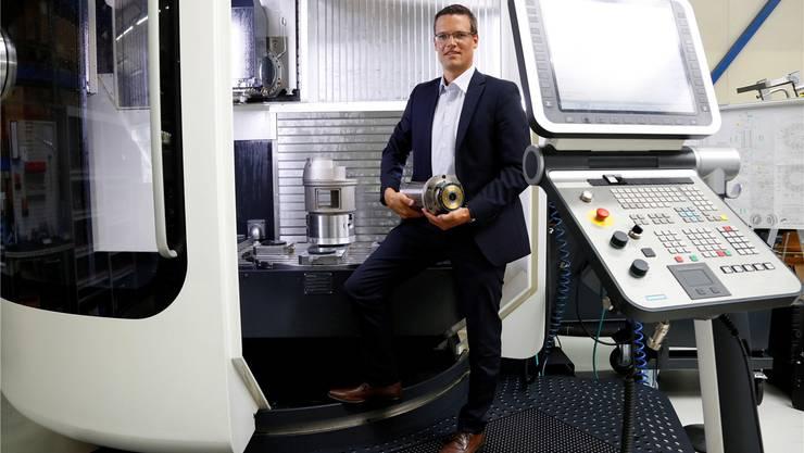 Tobias Moser, Geschäftsführer der Fischer AG: «Unsere Spindeln sind das Herzstück einer Werkzeugmaschine.» Hanspeter Bärtschi