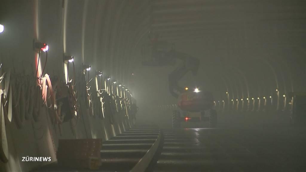 Endspurt bei dritter Röhre des Gubristtunnels