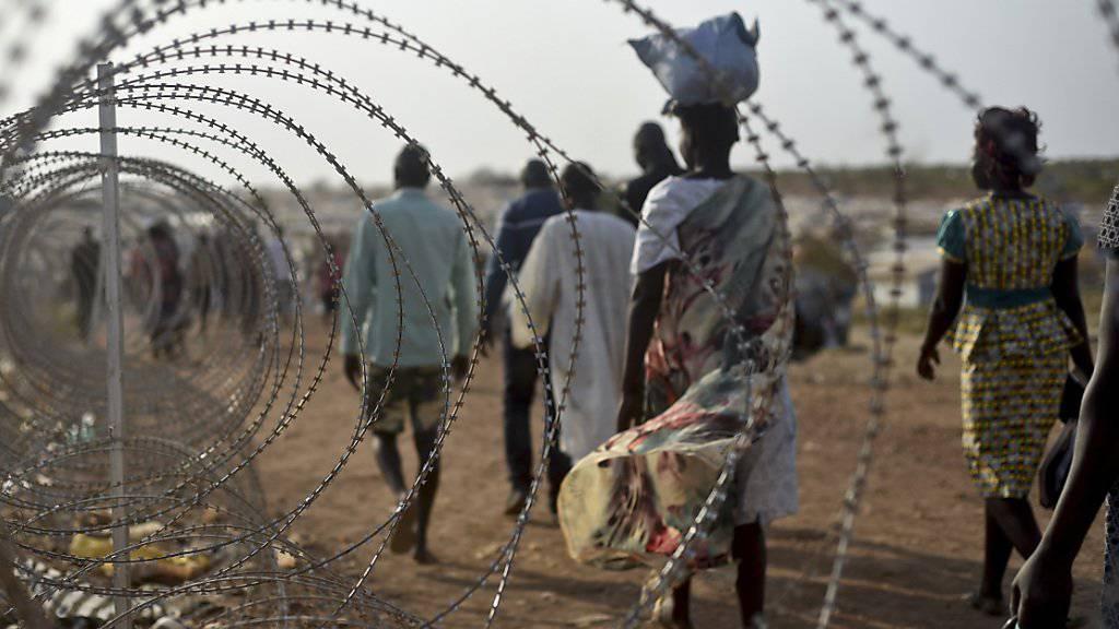 Vertriebene im Südsudan: In den letzten zwei Jahren starben dort bei Unruhen laut einem UNO-Vertreter 50'000 Menschen.