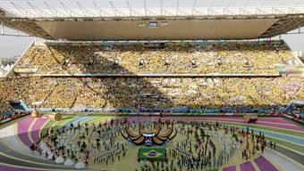 Die Eröffnungsfeier zur Fussball-WM 2014 in Brasilien