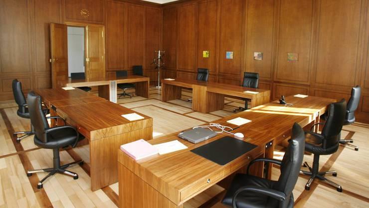 Blick in das Zimmer der Aargauer Regierung. (Archiv)