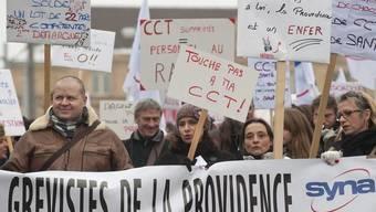 Unterstützung für die Streikenden: Demonstration in Neuenburg