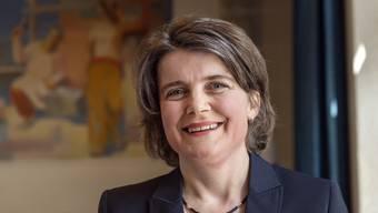 Kathrin Schweizer (SP) bei ihrer Ankunft im Landratssaal im Regierungsgebaeude in Liestal am Sonntag, 31. Maerz 2019. (KEYSTONE/Georgios Kefalas)