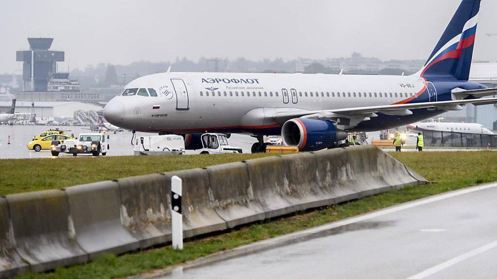 Wegen des Bombenalarms mussten die Passagiere der Aeroflot-Maschine eine grosse Verspätung in Kauf nehmen. (Archivbild)