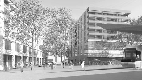 """Die geplanten Gebäude auf dem Grundstück """"Hoffnig"""""""