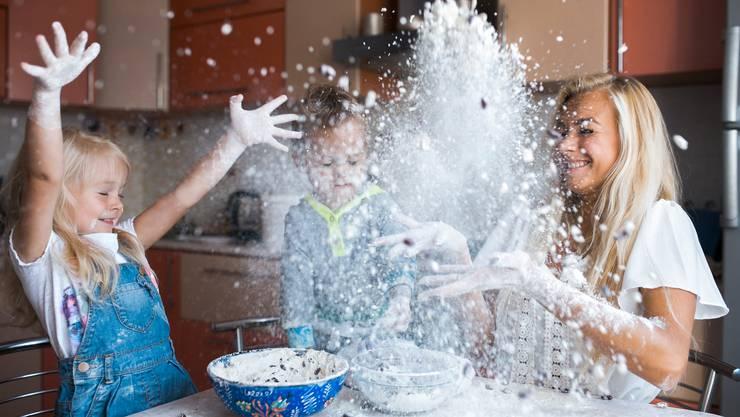 Spass mit Mama in der Küche