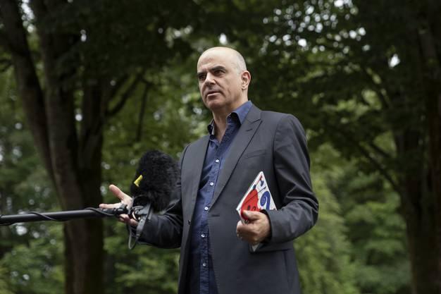 Bundesrat Alain Berset: «Lassen Sie sich testen!». (KEYSTONE/Peter Klaunzer)