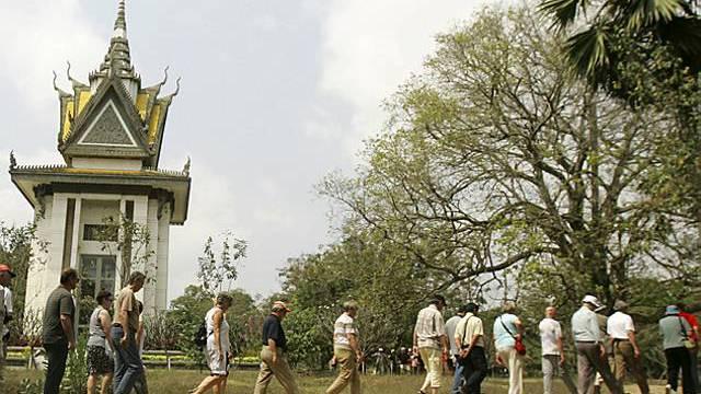 Völkermord-Gedenkstätte in Kambodscha