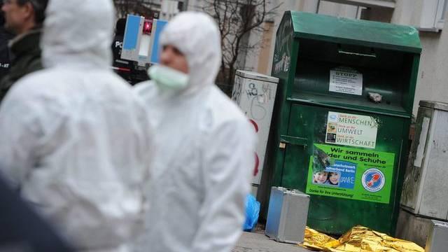 In diesem Container wurde das tote Baby gefunden