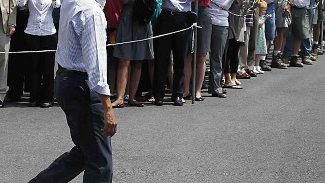 Barack Obama verabschiedet sich in die Sommerferien