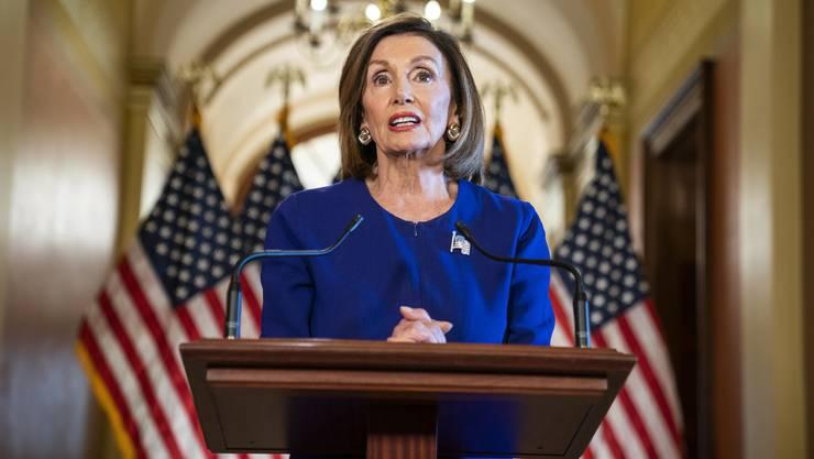 Nancy Pelosi bei ihrer Impeachment-Ansprache vor dem Kongress.