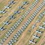 Der grösste Flugzeugfriedhof der Welt in einer Wüste des US-Bundesstaats Arizona.