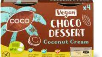 """Das als """"laktosefrei"""" ausgelobte Choco Dessert Coconut Cream der Migros enthält Milch."""