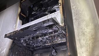 Die verbrannte Küche.