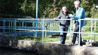 Klärbecken der ARA Bretzwil. In der Gemeinde wurde das Trinkwasser aus bisher ungeklärten Umständen verunreinigt.