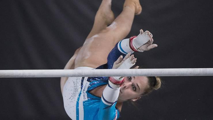 Giulia Steingruber gelang im Mehrkampffinal gegenüber der Qualifikation eine deutliche Steigerung