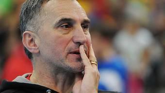 Unzufrieden nach der Niederlage: Nationaltrainer Goran Perkovac