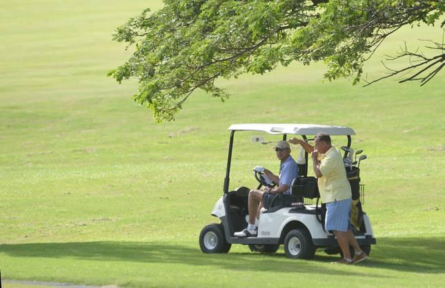 Der US-Präsident im Golf-Cart