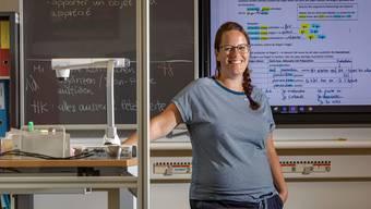 Englisch, Deutsch, Französisch und Informatik unterrichtet Barbara Fretz an der Oberstufe in Mellingen. Auch jetzt noch, obwohl sie wegen ihrer Schwangerschaft besonders gefährdet ist.