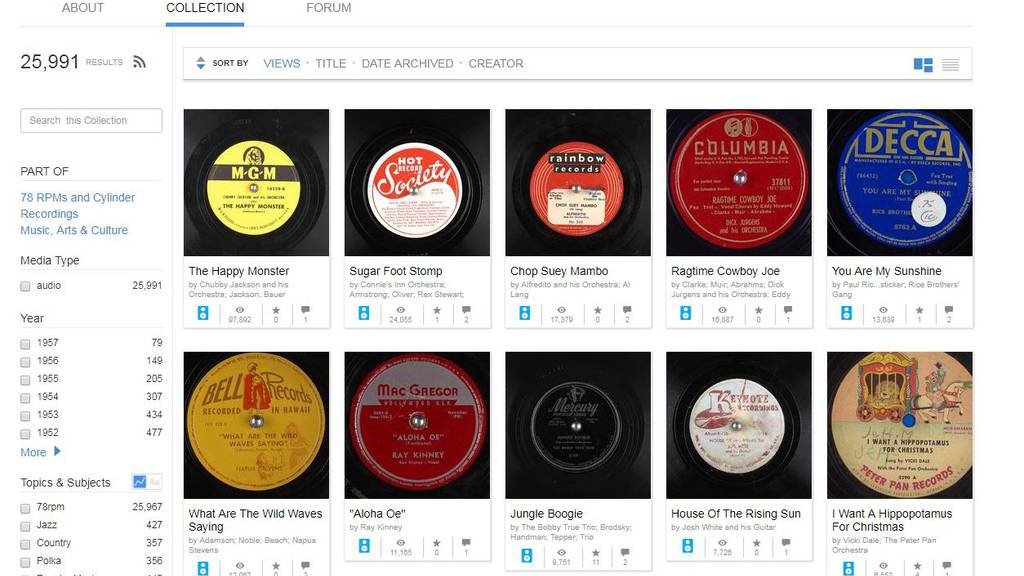 Vernetzt: 25'000 Schallplatten gratis anhören