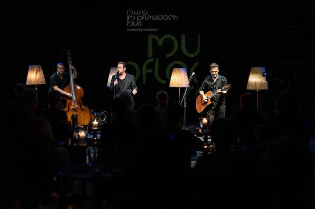 Michael von der Heide Trio zu Besuch bei «Musig im Pflegidach» in Muri.