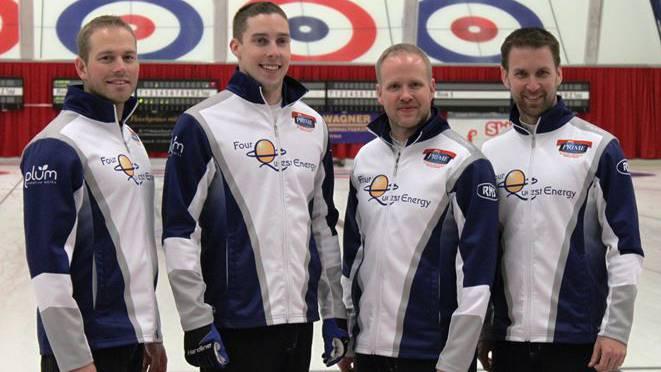 Das Siegerteam: G. Walker, B. Gallant, M. Nichols und B. Gushue.