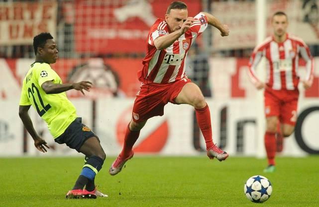 Franck Ribéry und die Bayern waren für den FC Basel eine Nummer zu gross