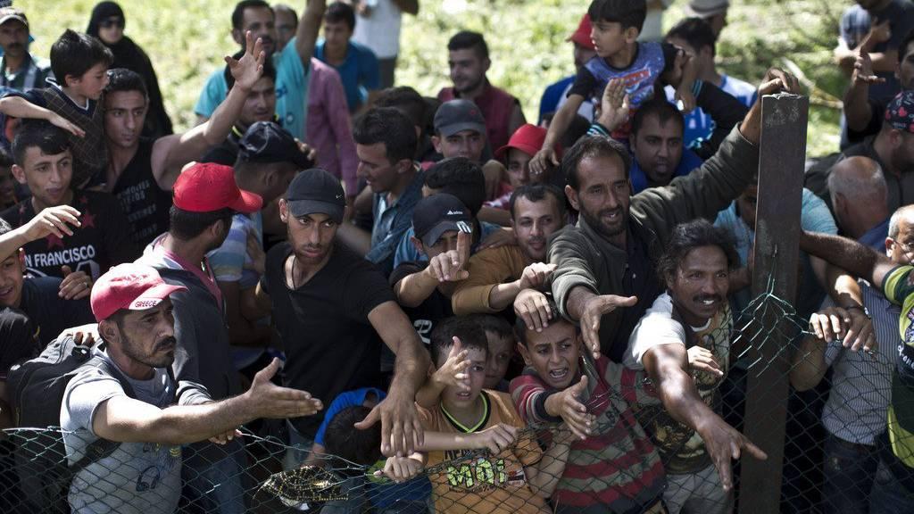Flüchtlinge in Kroatien (KEYSTONE)