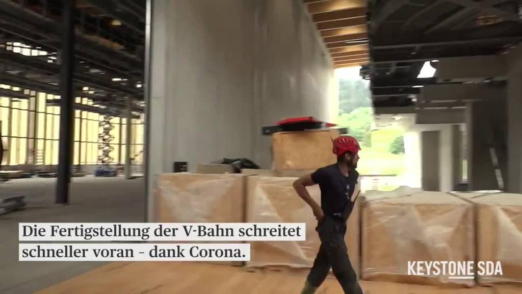 Bau der Bahn schreitet schneller voran – dank Corona