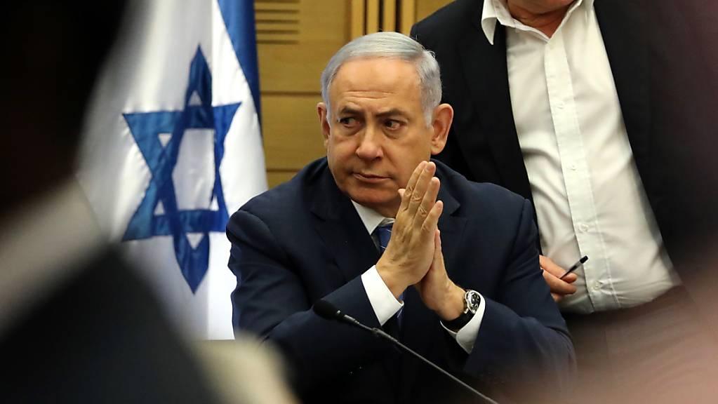 Israels amtierender Ministerpräsident Benjamin Netanjahu wird mit der Bildung einer neuen Regierung beauftragt. (Archivbild)