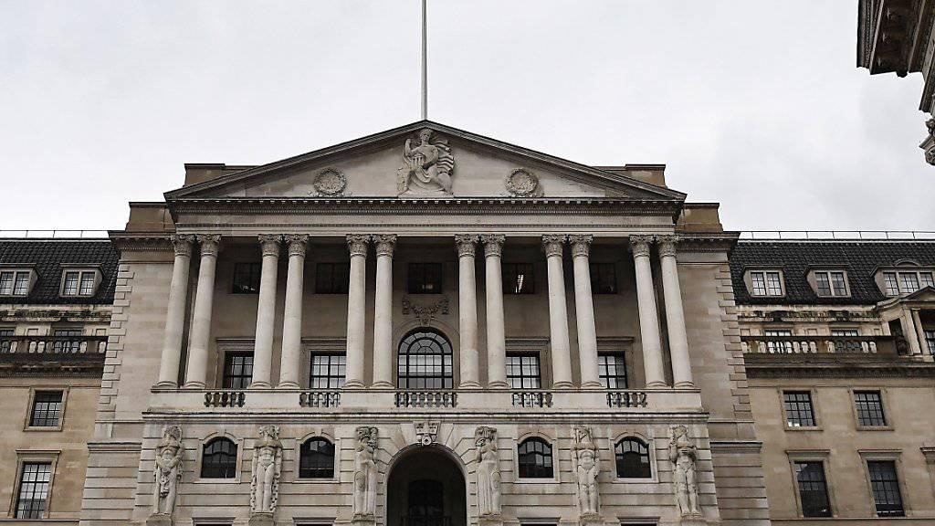 Britische Notenbank tastet vor dem Brexit ihren Leitzins nicht an. (Archiv)