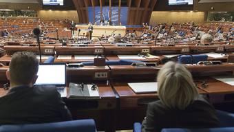 Plenarsaal des Europarates in Strassburg. (Archivbild)