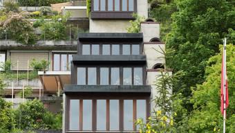 Gilt als Urtyp des Terrassenhauses. Die Mühlehalde von Hans Ulrich Scherer 1965 in Umiken bei Brugg gebaut. Alex Spichale